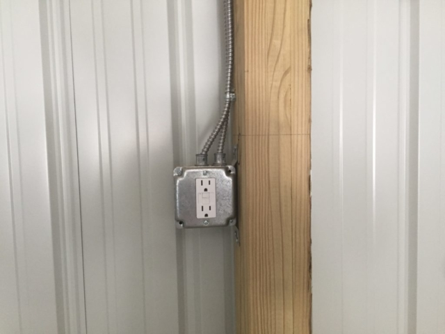 Electrical Outlet - RV and Boat Storage